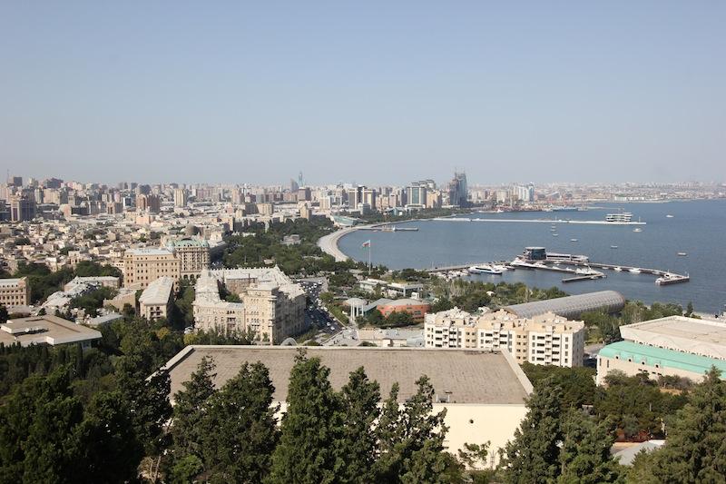 Панорама Бакинской бухты