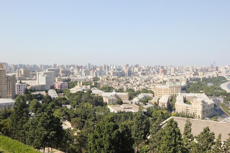 Панорама Баку из Нагорного парка