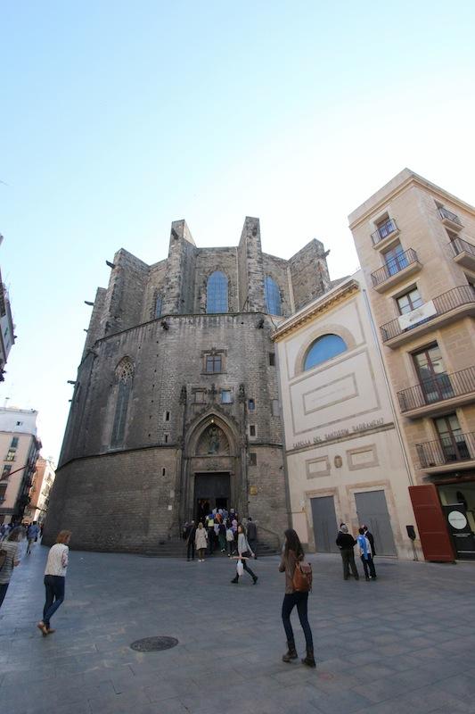 Задний фасад базилики Санта-Мария-дель-Мар