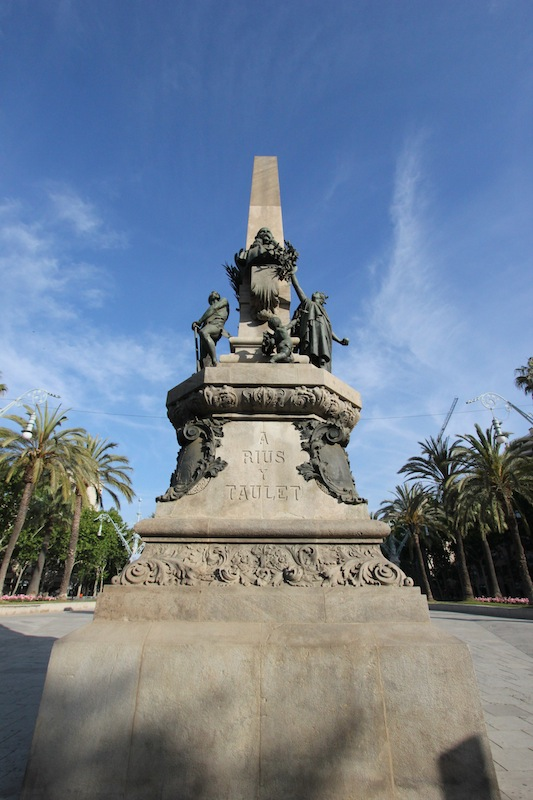 Памятник мэру Барселоны Франсиско де Паула Риусу