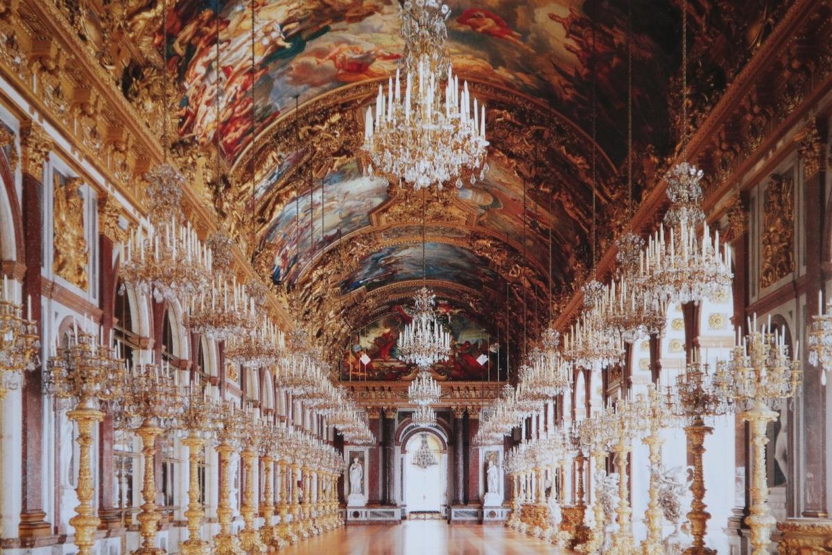 Дворец Херренкимзе. Зеркальная галерея (фото с открытки)