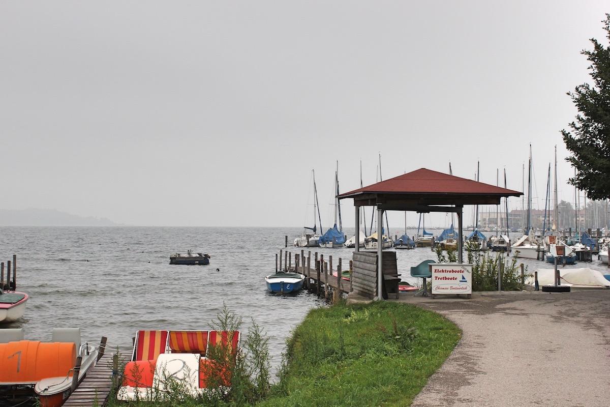 Пирс на озере Кимзе