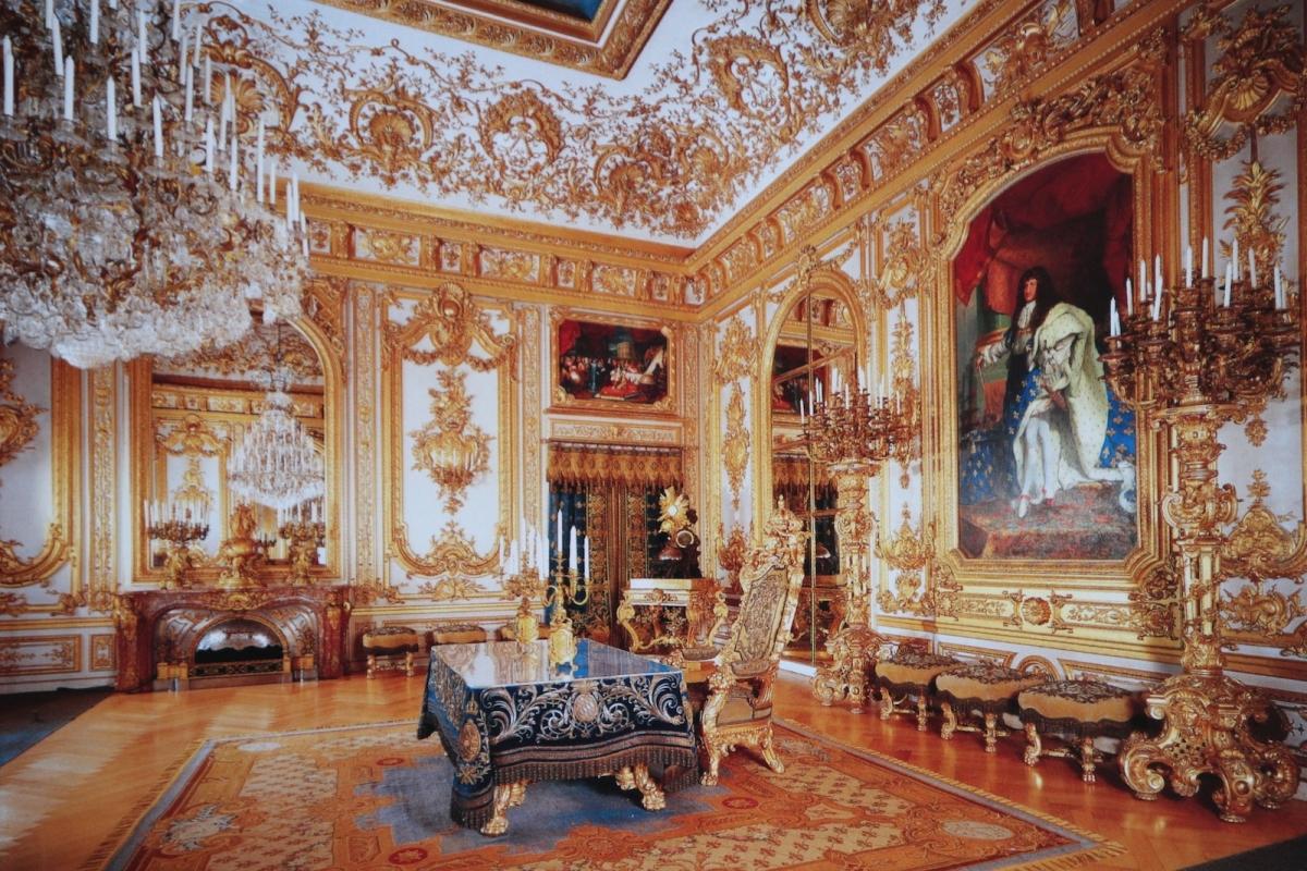 Дворец Херренкимзе. Зал совета (фото с открытки)