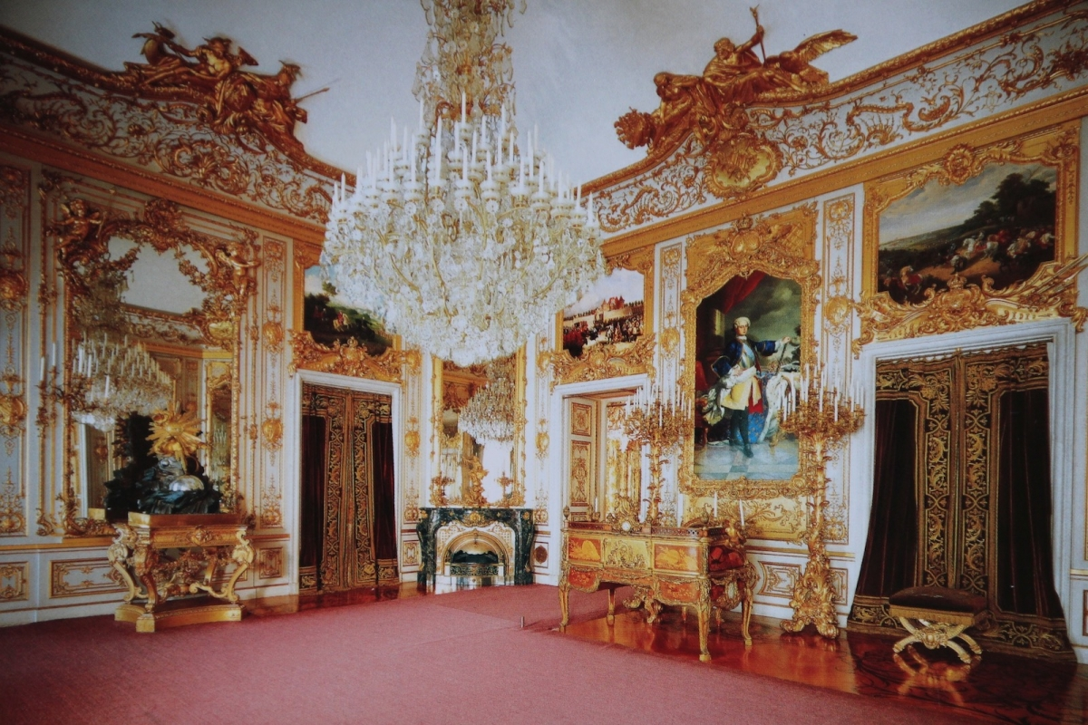 Дворец Херренкимзе. Рабочий кабинет (фото с открытки)