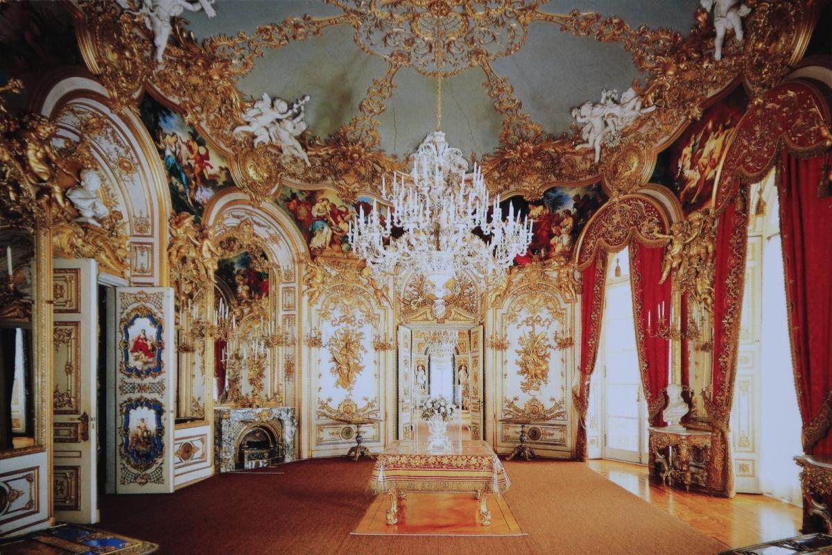 Дворец Херренкимзе. Столовая (фото с открытки)