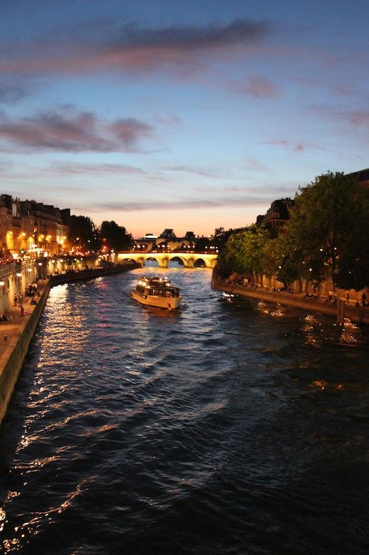 Вечерние огни на Сене