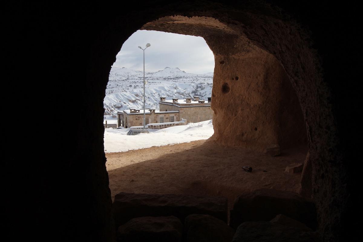 Вид из пещеры на анатолийские просторы