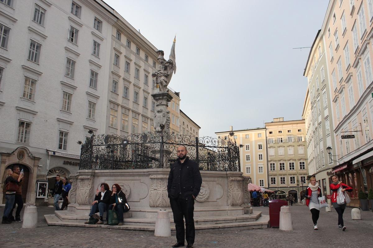 На площади Альтер Маркт в Зальцбурге