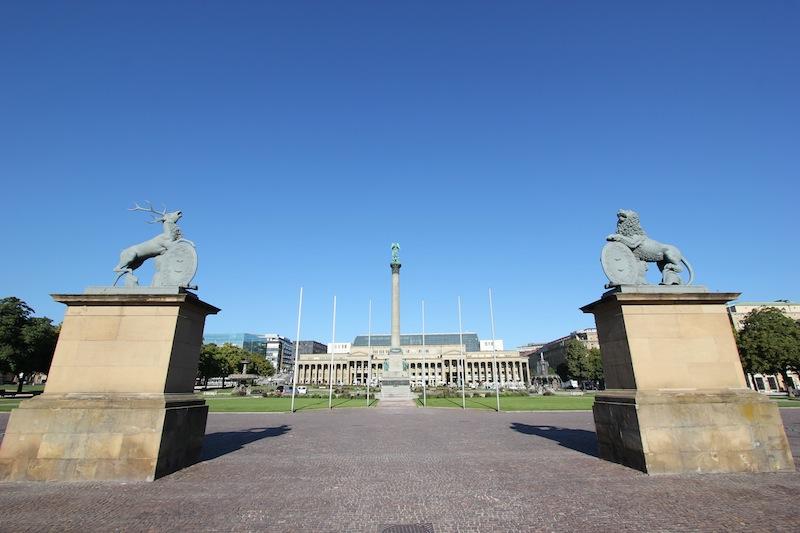 Дворцовая площадь в Штутгарте