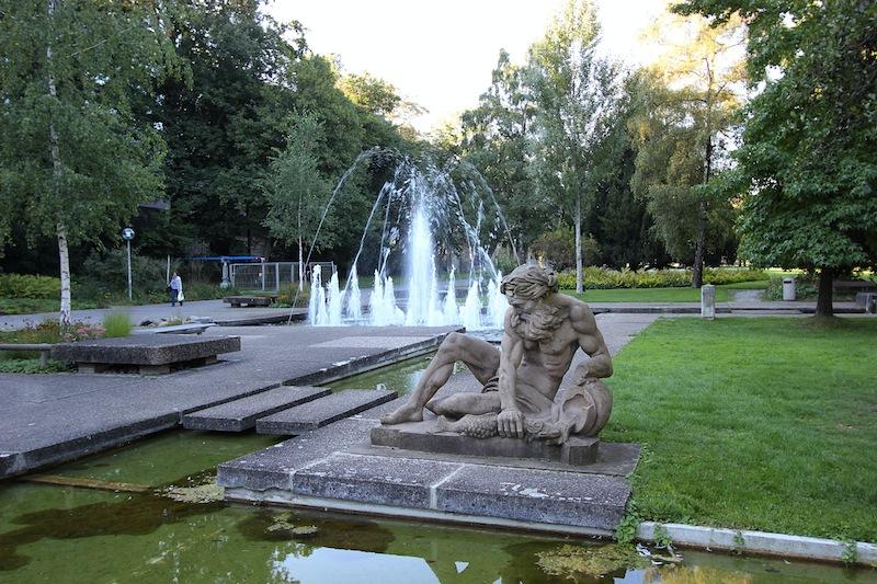 Фонтан в Среднем парке