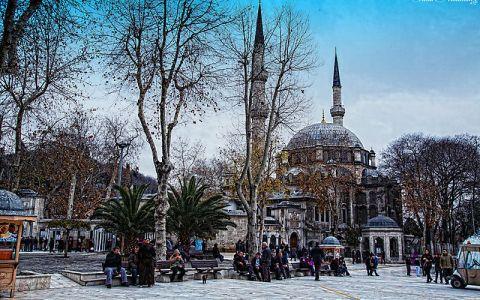Мечеть Эюп Султан зимой